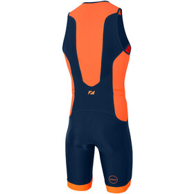 Zone3 Aquaflo Plus Combinaison de triathlon Homme, french/navy/grey/neon orange